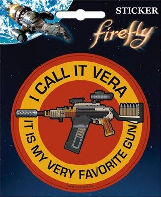 Firefly/Serenity I Call It Vera Jayne's Rifle Logo Peel Off Sticker Decal SEALED