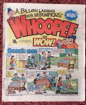 Whoopee And Wow Comic. 19 November 1983. Unsold Newsagent Stock. Unread. V/fn
