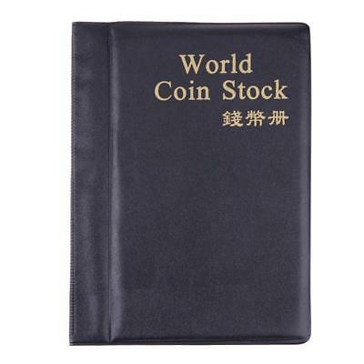 120Coin Holder Collection Collecting Album Stock Storage Money Pocket Penny Book