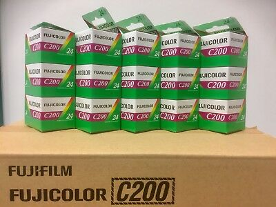 15 x Rolls of Fuji C200 35mm Print Film. C41 Process. Expiry date 06/2018