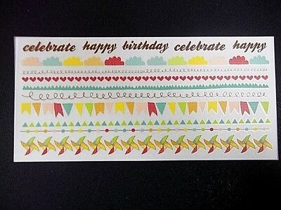 Kaisercraft Rub-ons  ~ SAVE THE DATE ~ Celebration - Birthday - Occasions