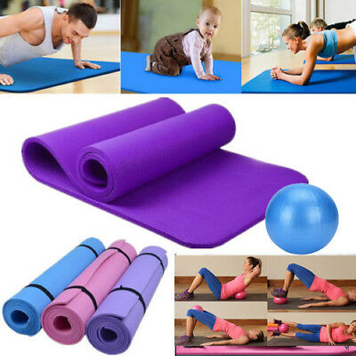 10mm Yoga Mat Non-slip Thick Exercise Pad Health Lose Weight Fitness &Yoga Ball