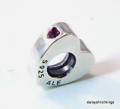 "New/tags  Authentic Pandora Charm Two Hearts Spacer ""you And Me"" #796559Czr"