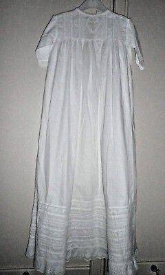 VINTAGE BABIES GOWN with  BRODERIE ANGLAISE TRIM