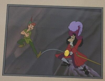 "Disney Animation Art Cel Limited Edition Peter Pan & Captain Hook, ""Skull Rock"""