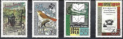 1994 Slovenia set of 4 Prominent Personalities series 150th Birthdays MNH