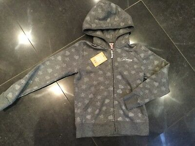 NWT Juicy Couture New & Genuine Girls Age 8 Grey Cotton Hoody With Juicy Logo