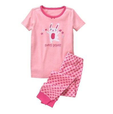 NWT Gymboree HOPPY EASTER Pink Bunny Short Sleeve 2 Piece Gymmies Girls 6 8 10