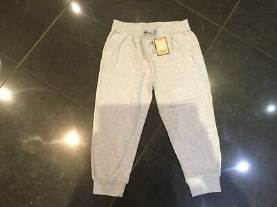NWT Juicy Couture New & Genuine Girls Age 10 Grey Cotton Cuff Leg Pants