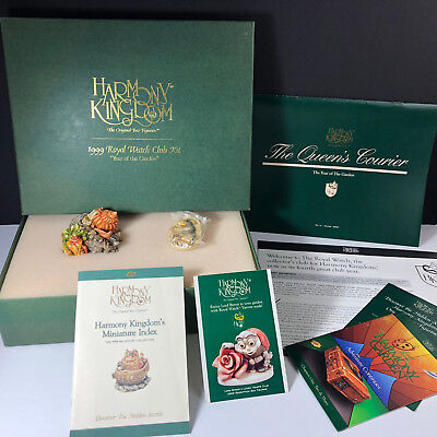 HARMONY KINGDOM 1999 Royal Watch club kit figurines Year of Garden box shell pin