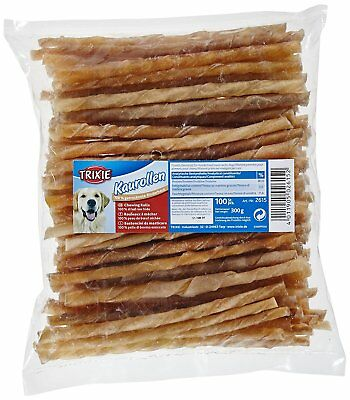 Trixie 2615 100 Chewing Sticks Twisted Delicious Snack Food Treat for Dogs 12cm