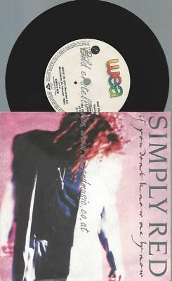 "7""   Simply Red ‎– If You Don't Know Me By Now"