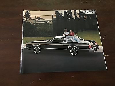 1977 Ford LTD II Car Auto Dealership Advertising Brochure