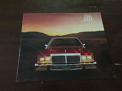 1979 Ford LTD Car Auto Dealership Advertising Brochure