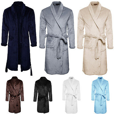 Herren Winter Bademantel Morgenmantel Saunamantel Bathrobe Schalkragen Frottee