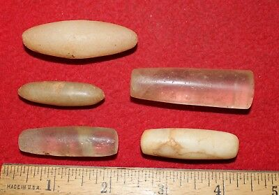 (5) Nice Large Neolithic Ear-Nose Plugs