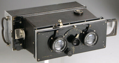 Ica Polyscop 6x13 _ antique stereo & panoramic camera _Zeiss Tessar brass lenses