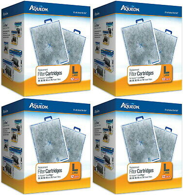 Aqueon Replacement Filter Cartridges, Large 48ct (4 x 12ct)