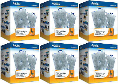 Aqueon Replacement Filter Cartridges, Large 72ct (6 x 12ct)