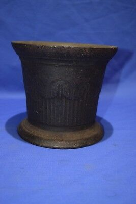 """Large Antique Victorian 19c Cast Iron Pestle Apothecary Vessel  6""""by 6 3/4"""""""
