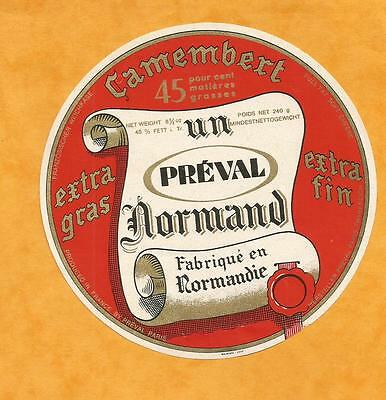 Paris  Etiquette  Camembert  Normand Preval  Export