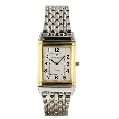 Jaeger LeCoultre Reverso Classique Steel 18K Yellow Gold Watch 250.5.08 With Box