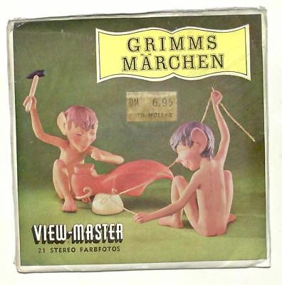 SEALED vintage SAWYERS View Master GRIMMS FAIRY TALES German reel set foreign !!