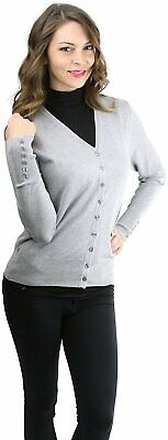 90d8e1f3020 TOBEINSTYLE WOMEN'S MIXED Knit Long Sleeve V-Neck Button Front ...