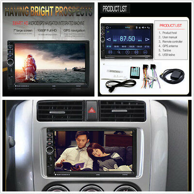 "7"" HD 2Din Android 7.1 Bluetooth Quad Core 16 GB Car Stereo GPS Radio MP5 Player"
