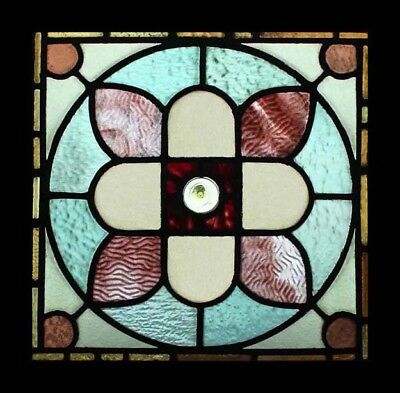 Rare Amazing Victorian English Antique Stained Glass Window