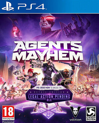 Agents of Mayhem - Day One Edition (PS4)  BRAND NEW AND SEALED - QUICK DISPATCH