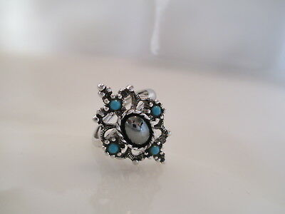 Vintage Estate Signed Avon Mirabella Ring In Box W/sleeve. Size 8 (Os76)