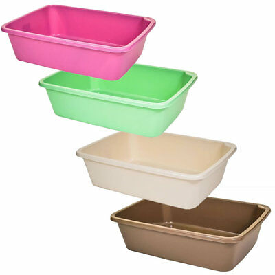 Large Open Plastic Cat Pet Kitten Litter Tray Box Toilet Waste Easy Clean