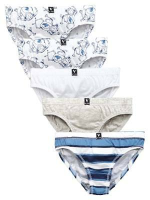 Mini V by Very Toddler Boys Pack Of Five Monkey Briefs