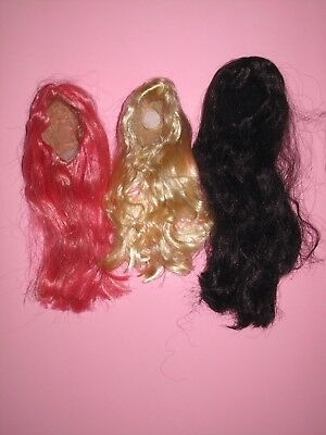 Tonner - Lot of 3 American Model Size 7-8 Fashion Doll WIGS