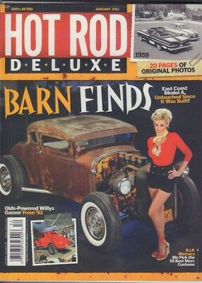 HOT ROD DELUXE Magazine Olds Powered Willys Gasser January 2011 011618nonr