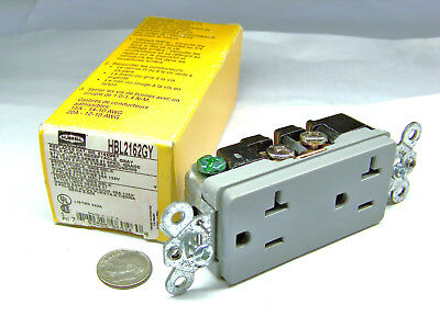 Hubbell Hbl2162Gy Nos Style Line 21 Series Grey Receptacle 20A 125V 2P 3W 6-20R