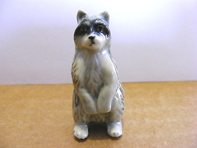 Klima Raccoon Standing Up Miniature Animal Figurine Support Wildlife Rehab