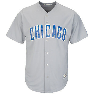 MLB Baseball Trikot Chicago Cubs grau Road Cool base Majestic Jersey