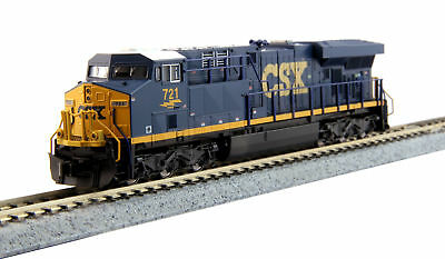 Kato N Scale GE ES44AC GEVO CSX Transportation/YN3 Dark Future Blue/Yellow #721