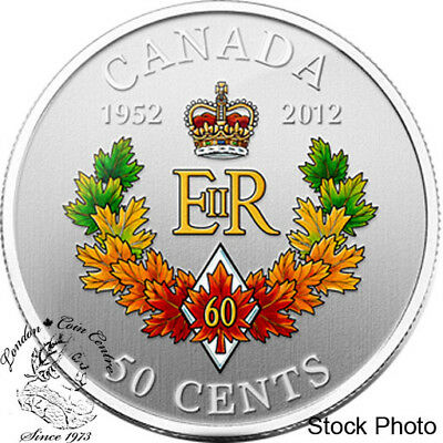 Canada 2012 50 Cents The Queen's Diamond Jubilee