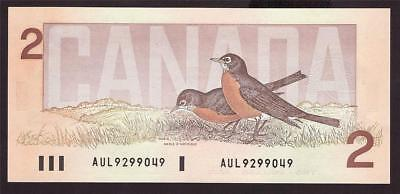 1986 Canada $2 Two Dollar banknote Theissen AUL 9299049 Choice UNC63+ EPQ
