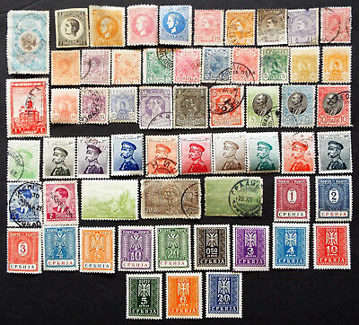 Early Stamps From Serbia With Mnh Occupation Sets