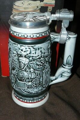 Avon Collectible Beer Stein Age of the Iron Horse Trains Railways New in the Box