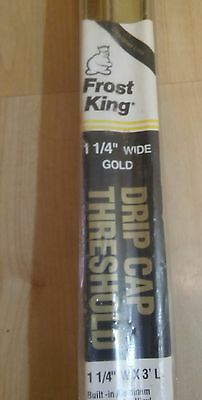 Frost King U36WH Drip Cap Threshold 1-1/4-Inch by 36-Inches, Gold