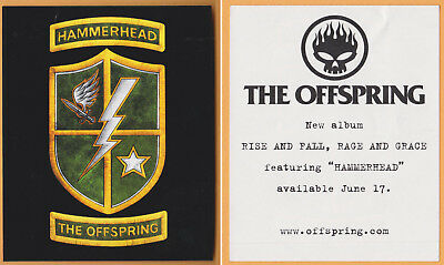 The Offsping - Rise and Fall, Rage and Grace - Hammerhead - promotional sticker