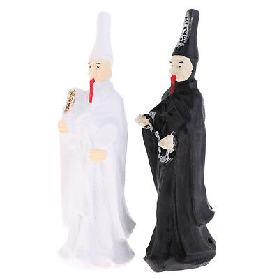 2PCS Resin Model Miniature Chinese Ghost Garden Statue Craft Home Decoration