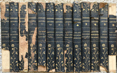 SOLD INDIVIDUALLY: 15 Vols/$7ea John STODDARD'S LECTURES Europe/California 1870s