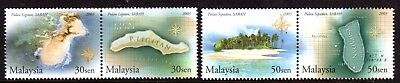 2003 MALAYSIA ISLANDS & BEACHES pairs 2nd series SG1149-1152 mint unhinged