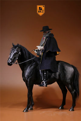 Mr.Z 003 1/6 Hanoverian Lifelike Animal Model Hannover Black Horse Figure Toys